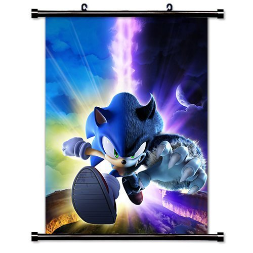 Poster Sonic The Hedgehog Game Fabric Wall Scroll  Inches