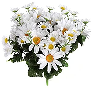 Home-X Artificial Lifelike Daisy Bouquet, Set of 2 67