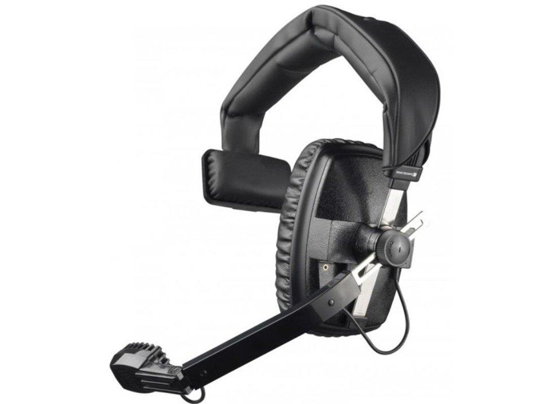 Beyerdynamic DT-108-200-400-BLACK Single-Ear Headset with Dynamic Hypercardioid Microphone, 400 Ohms, Black
