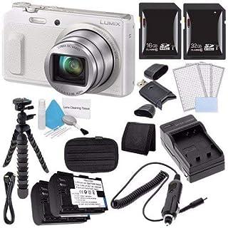 Panasonic Lumix DMC-ZS45 16 MP Wi-Fi Digital Camera (White) + DMW-BCM13 Battery + External Charger + 16GB SDHC Card Saver Bundle 2 - International Version (No Warranty)