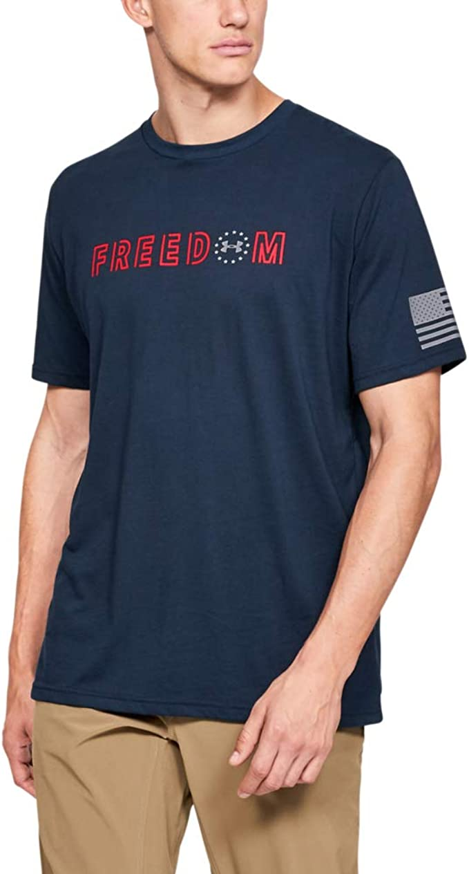 Under Armour 13333504103XL Freedom Flag T-Shirt Academy//Steeltown Gold 3XL