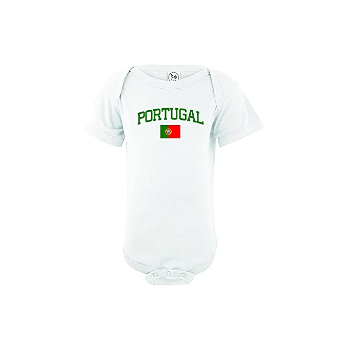 6ae85be1 nobrand Portugal Bodysuit Soccer Infant Baby Girls Boys Personalized  Customized Name and Number (Newborn,
