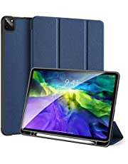 For New Apple IPad Pro 11 2020, Soft TPU Back With Pencil Holder, Trifold Stand Cover With Auto Sleep/Wake - Blue