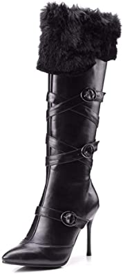 Women Knee High Boots Pointed Toe