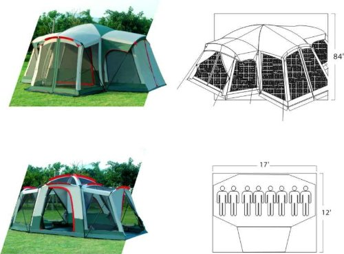 Gigatent Kinsman Mountain Family Tent, Outdoor Stuffs