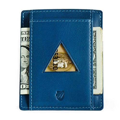Front Pocket Wallet in Tuscany leather, RFID Minimalist Card Holder from Axess