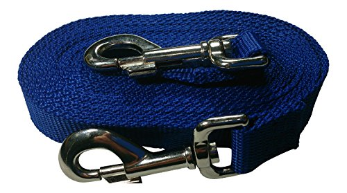 Pet Polypropylene Leash (Freedom Aerial Dog Runs Replacement Lead Line Polypropylene 15 Ft Dog Tether (Royal Blue))