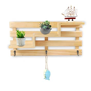 margueras 1pcs estante de pared (madera/perchero estante de ...