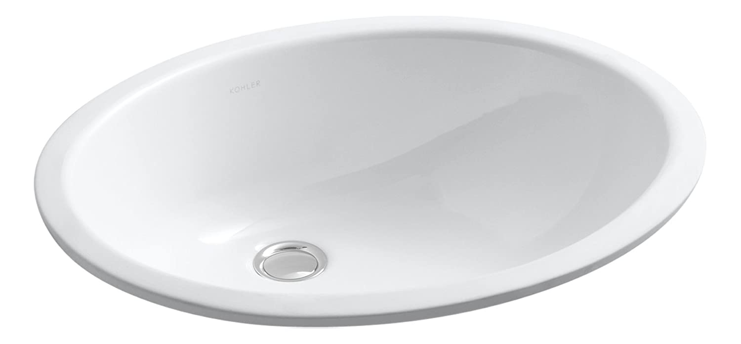 Bathroom sink dimensions mm - Kohler K 2210 0 Caxton Undercounter Bathroom Sink White Vessel Sinks Amazon Com