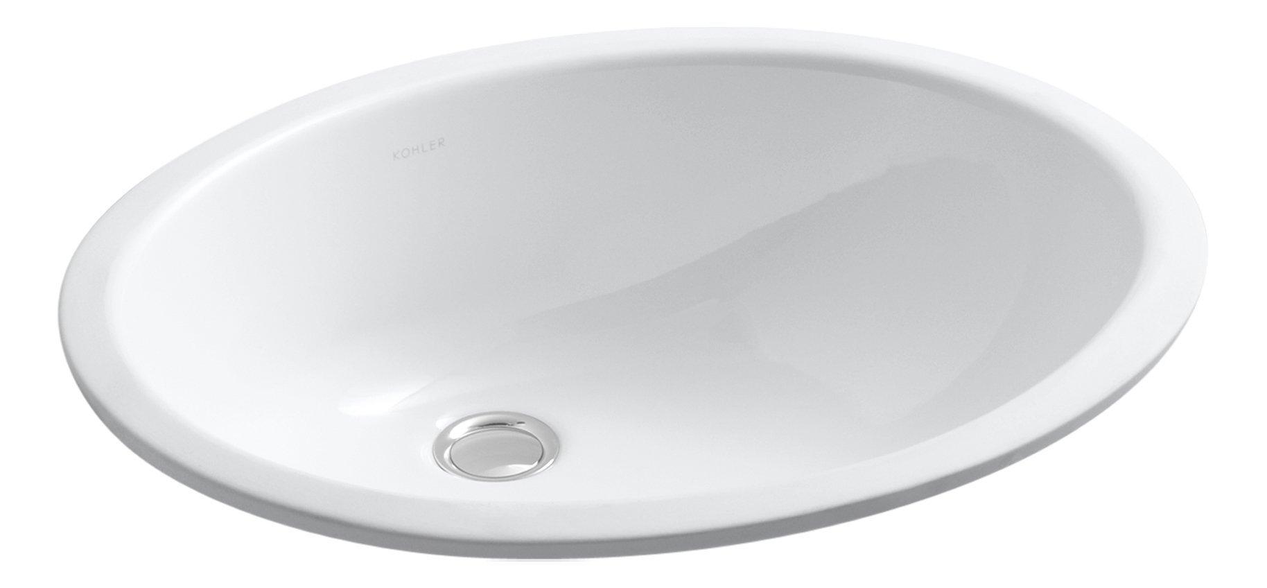 KOHLER K-2210-0 Caxton Undercounter Bathroom Sink, White by Kohler