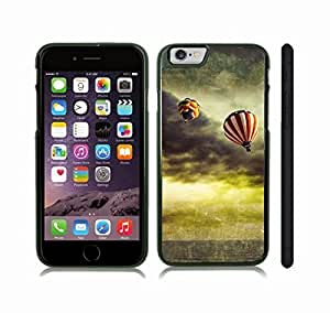 iStar Cases? iPhone 6 Plus Case with Hot-Air Balloons in a Stormy Sky, Photomanipulation , Snap-on Cover, Hard Carrying Case (Black)