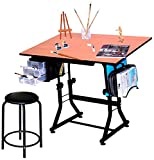 Offex Ashley Black Creative Hobby Table with Stool