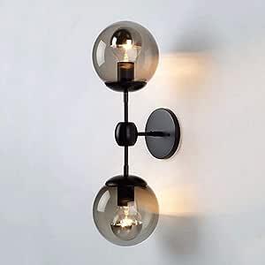 Wall Lamp Creative Retro Living Room Study Bedside Wall Lamp Glass Wall Lamp