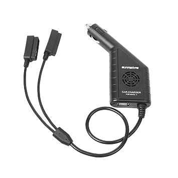 Toyvian Batería Drone Cargador de Coche Cargador USB 3 en 1 ...