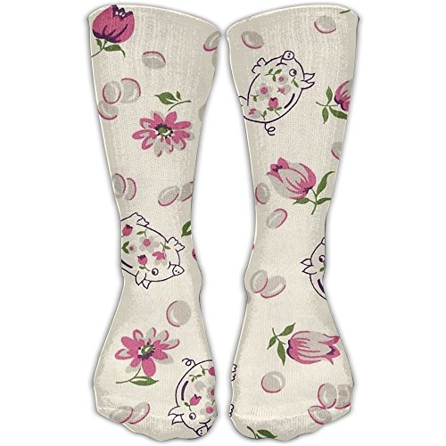 Lovely Pigs And Flowers Men And Women Casual Socks (1 Pair) New 3d Printing Socks Fashion Stretch Compression Socks For Stocking Picture