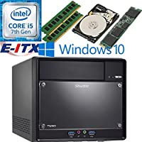 Shuttle SH110R4 Intel Core i5-7400 (Kaby Lake) XPC Cube System , 16GB Dual Channel DDR4, 120GB M.2 SSD, 2TB HDD, DVD RW, WiFi, Bluetooth, Window 10 Pro Installed & Configured by E-ITX