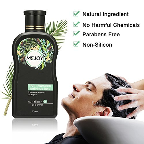 Anti-Hair Loss Shampoo For Men & Women, LuckyFine – Contains Herbal Ingredients, Helps Stop Hair Loss, Hair Growth, Stimulates Hair Re-growth Dandruff Treatment 200ML by Luckyfine (Image #4)