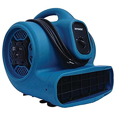 Xpower X-400a X-400a 1,600cfm 3-Speed Commercial Air Mover/carpet Dryer/floor Blower Fan With Dual Outlets For Daisy Cha