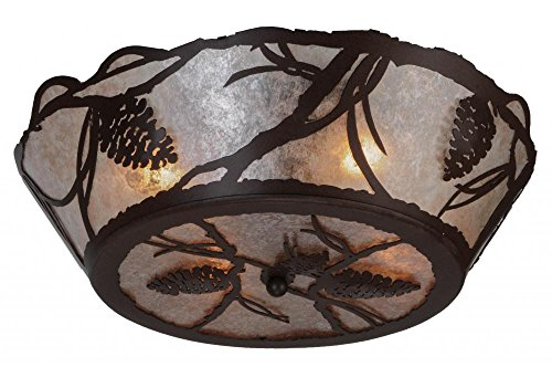 "picture of Meyda Tiffany 142199 Pinecone Flush Mount, 24"" W"
