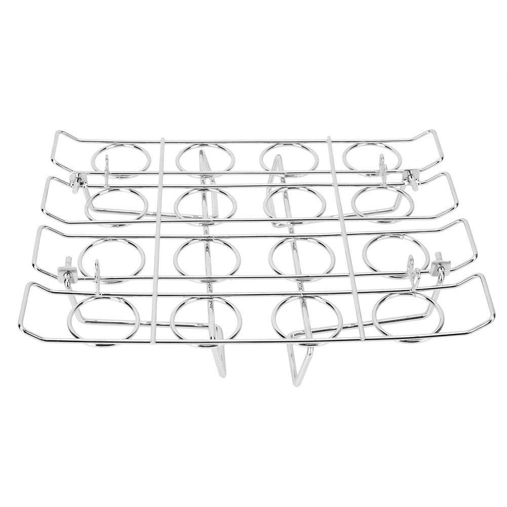 pr/ésentoir /à c/ône de support de cr/ème glac/ée en acier inoxydable /à 16 fentes et pr/ésentoir de g/âteaux pliables /à d/écorer Support de cuisson Cupcake Cone