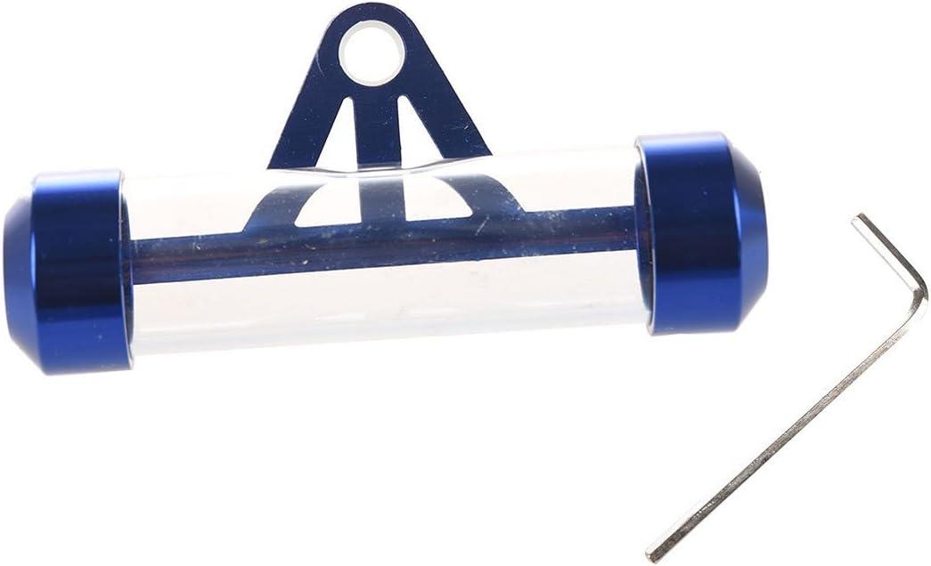 TOOGOO Soporte de tubo de disco de impuesto de metal Moto Scooter Motocicleta Ciclomotor Impermeable a la lluvia-Azul R