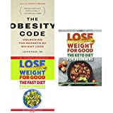 img - for obesity code, lose weight for good fast diet for beginners and the keto diet for beginners 3 books collection set - unlocking the secrets of weight loss, weight loss with intermittent fasting book / textbook / text book