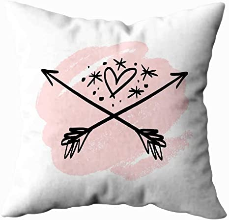 Amazon Com Tomwish Christmas Decorative Square Throw Pillow Covers 20x20inch Clip Art Hand Emblem Magical Heart Arrows Stars Logo Boho Style Tattoo Print Card Poster Decorative Throw Pillow Case For Home Decor Home