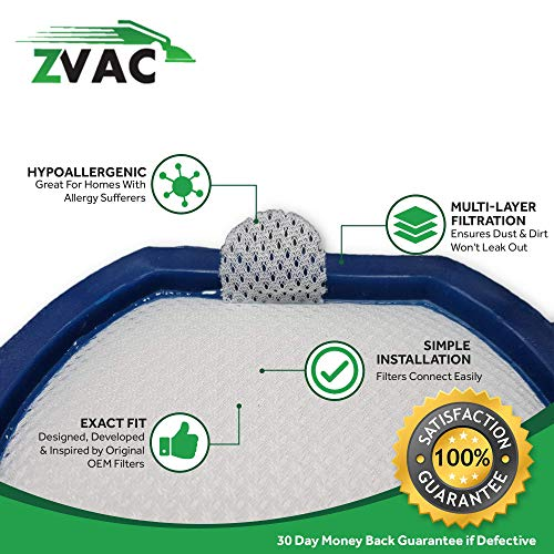 ZVac 4 Hoover WindTunnel T-Series Rewind Filter Generic Part Replaces Part Numbers 303173001, 303173002 Fits: All WindTunnel T-Series Rewind Vacuum Cleaners
