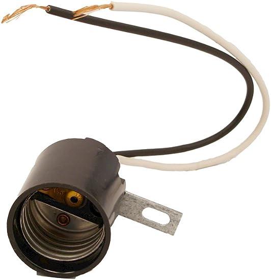 5 Leviton Phenolic Lampholder Light Sockets Bracket Mount E26 Medium Base 3352-F