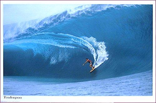 TEAHUPOO SURF POSTER Amazing Hawaii Surfing Waves RARE HOT NEW 24x36