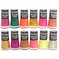 Makeup Mania Trendy Colors Nail Enamels Combo (Multicolor No.83, Pack of 12)