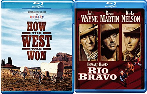 Westerns How the West was Won Blu Ray + Rio Bravo (Blu-ray) Western Action Pack Movie Set Movie Bundle