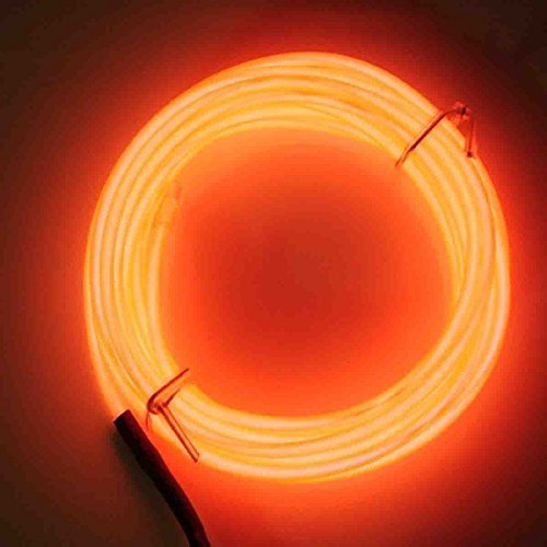 Jytrend 9ft Neon Light El Wire w/ Battery Pack - (Orange Wire)