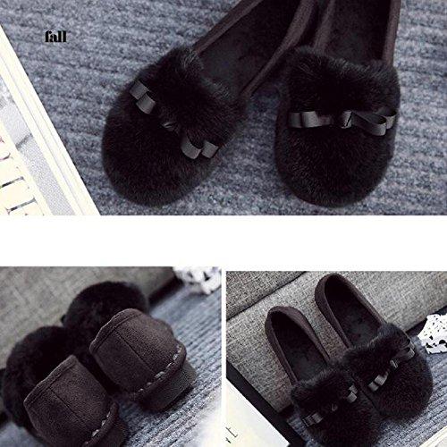 confortevole scarpe su 90 piatte donna pelliccia Inverno 120W mocassini 160cm caldo Slip Leopard foderata confortevoli UYCUqzxw4