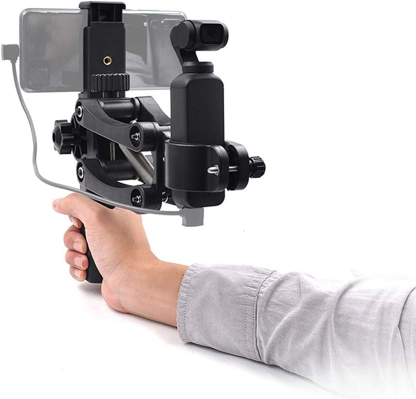 Adjustable 360 Rotation Handheld Phone Holder Bracket Arm Pillar Rod Support with 1//4inch Screw for DJI Osmo TANGON 4th Axis Phone Gimbal Stabilizer