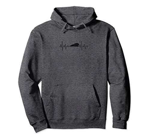 Unisex Indian Heartbeat Motorcycle Fan Hoodie Sweater XL: Dark Heather -