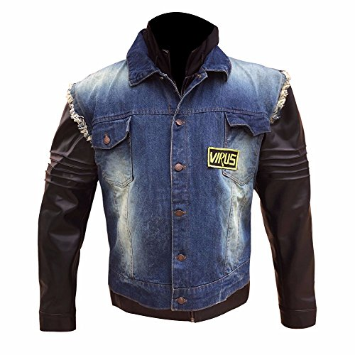 Men's Unique Denim Signature Icon Leather Jacket With Woolen Hoodie - New Arrival - Customer New Icon