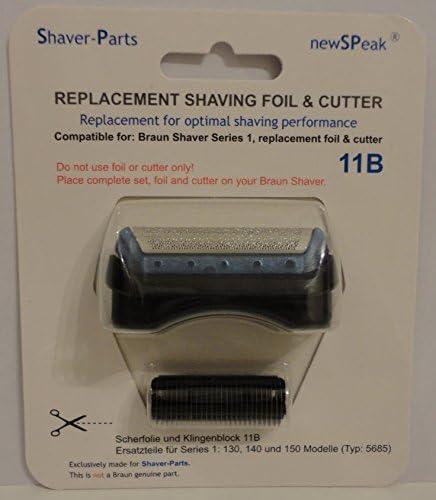 Braun hoja de afeitar y cortador de serie combi pack 1, 11B reemplazo (este no es un artículo original de Braun).: Amazon.es: Salud y cuidado personal