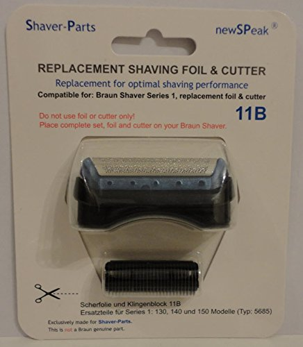Braun shaving foil & cutter combi pack series 1, 11B replacement. Shaver-Parts