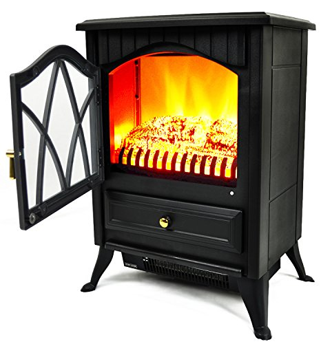 AKDY Retro Style Freestanding Fireplace AK ND 18D2P