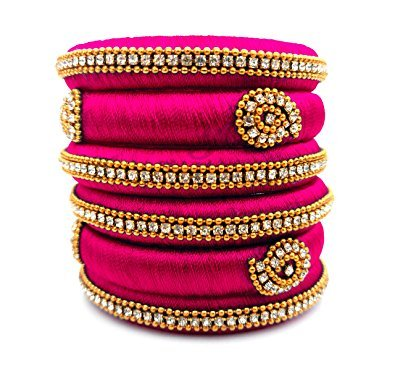 421716edb92 Buy Silk Thread Pink Bangles Online at Low Prices in India   Amazon  Jewellery Store - Amazon.in