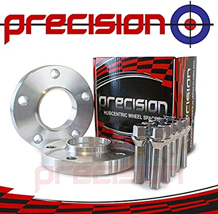 Precision 1 Pair of Black Hubcentric 12mm Alloy Wheel Spacers /& Bolts for ƁMW 3 Series Upto 2010 PN.V2PHS3B+10BM1740B111