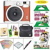 Fujifilm instax mini 90 Instant Film Camera (Brown) + Fujifilm instax Film 20 Sheets + Extra Accessories Kit