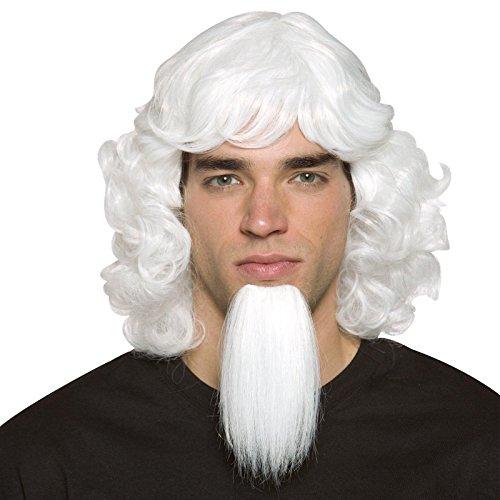 Rasta Imposta Uncle Sam Wig and Goatee Set, White, One (Uncle Sam Wig)