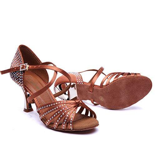 Amazon.com | Ruiyue Professional Latin Dance Shoe, Party Ballroom Dancing Sneakers Diamond Teacher Shoes for Women | Ballet & Dance