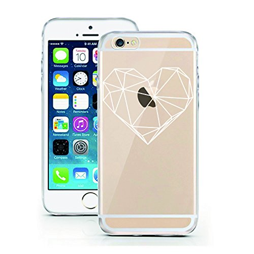 iPhone 6 6S Case by licaso for the iPhone 6 6S TPU Disney Case White Poly Heart Love Clear Protective Cover iphone6 Mobile Phone Sleeve Bumper (iPhone 6 6S, Poly Heart)