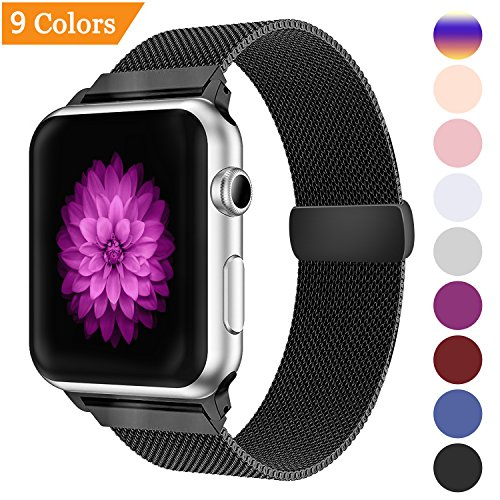 DVEEZIIG Bandx Milanese Loop Replacement Band Compatible Apple Watch 38mm 42mm,Stainless Steel Mesh Band Magnetic Closure iWatch Series 3 Series 2 Series 1