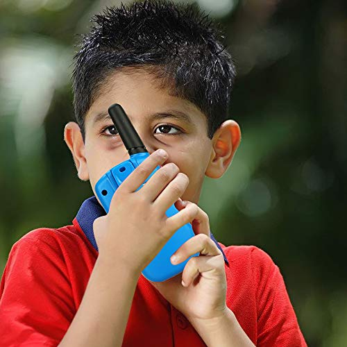 TOP Gift Toys for 3-12 Year Old Kids, Handheld Walkie Talkies for Kids 2 Mile Range Hallowee Gifts for Boys Girls Kid 2018 Christmas New Gifts for Kids Boys Girls 3-12 Stocking Fillers Blue TGDJ02