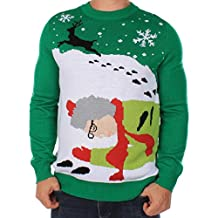 Men's Grandma Got Run Over By A Reindeer Ugly Christmas Sweater