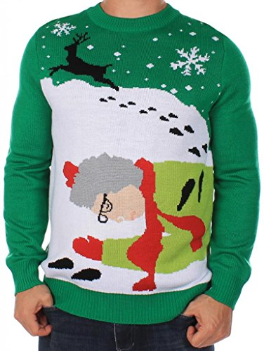 Men's Ugly Christmas Sweater - Grandma Got Run Over By A ...